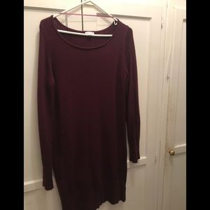 Knitted burgundy dress